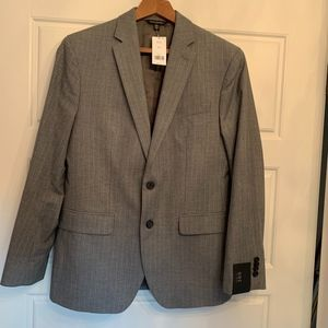 Banana Republic Men's Medium Grey Pinstripe